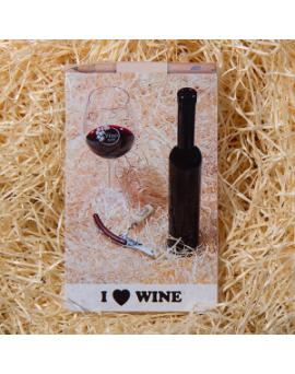 """BLOČEK VÍNO SVĚT """"I LOVE WINE"""""""